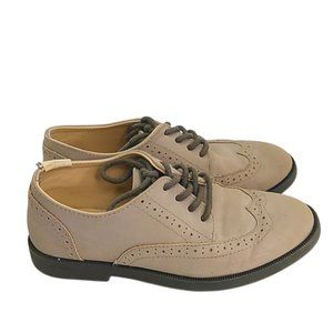 Gymboree Taupe Gray Wing Tip Dress Shoes